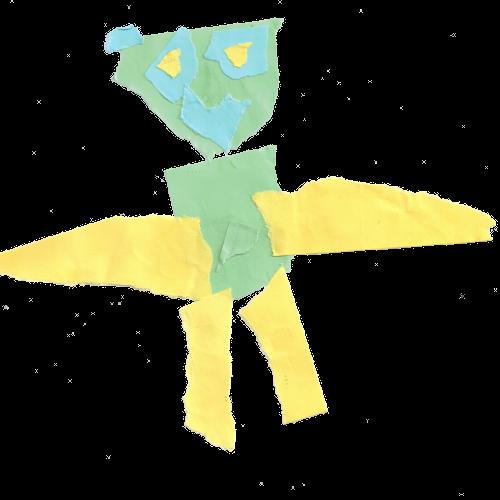 Torn Paper Monster II Artist: Adrian 11 August 2014