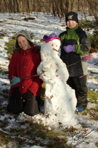 First Snowman of Year