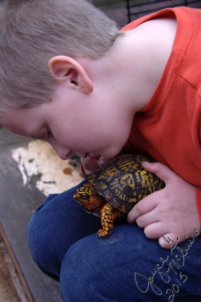 Adrian and turtle